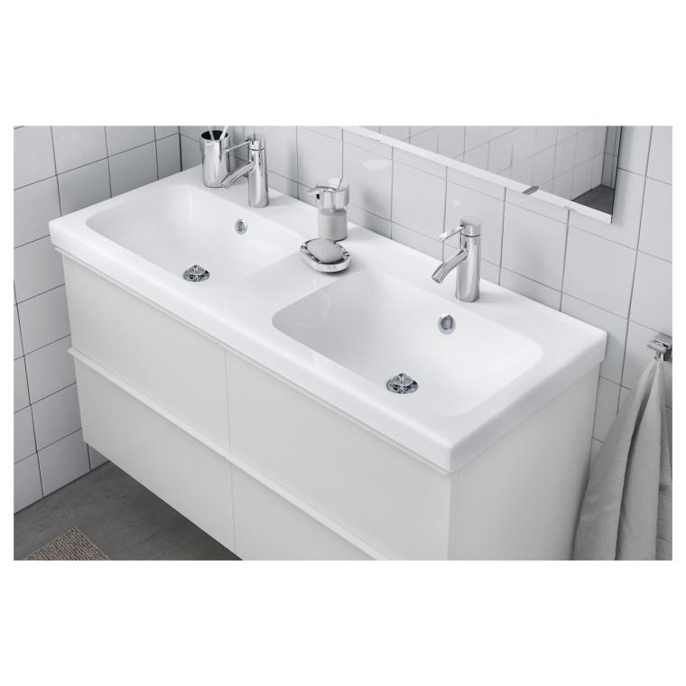 Двойная раковина IKEA ODENSVIK 123x49x6 см (801.356.13)