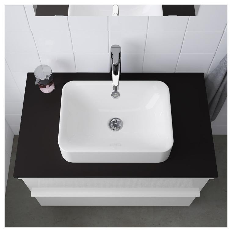 Одинарна раковина IKEA HORVIK 45х32 см (303.589.36)