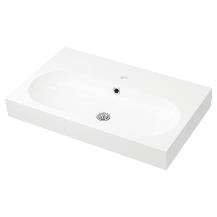 Одинарна раковина IKEA BRAVIKEN 80x48x10 см (901.807.99)