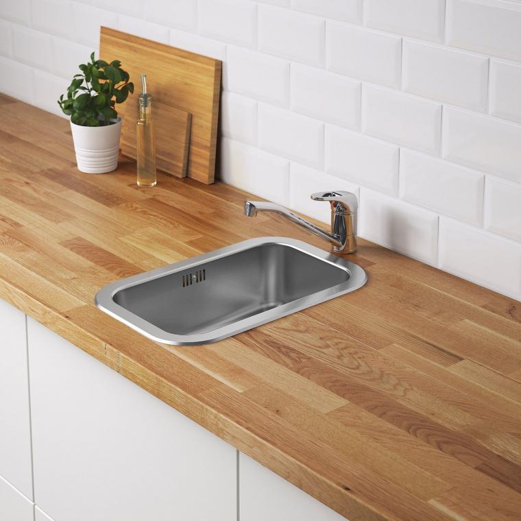 Одинарна мийка IKEA BOHOLMEN 47x30 см (991.575.01)