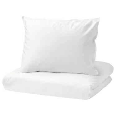 Комплект постільної білизни IKEA ANGSLILJA білий (403.185.63)