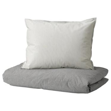 Комплект постільної білизни IKEA BLAVINDA сірий (203.280.49)