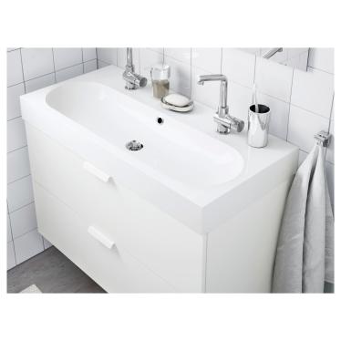 Одинарна раковина IKEA BRAVIKEN 100x48x10 см (301.354.46)