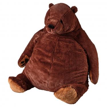 М'яка іграшка IKEA DJUNGELSKOG ведмідь/коричневий (004.028.13)