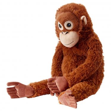 М'яка іграшка IKEA DJUNGELSKOG орангутанг/коричневий (004.028.08)