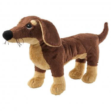 М'яка іграшка IKEA SMASLUG собака/коричневий (202.604.45)