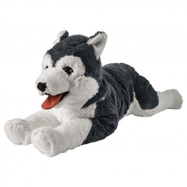М'яка іграшка IKEA LIVLIG собака/сибірський хаскі (402.979.90)
