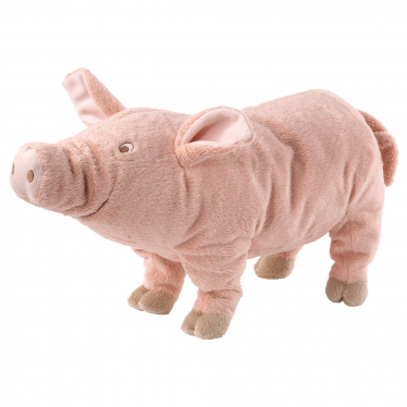 М'яка іграшка IKEA KNORRIG свинка/рожевий (602.604.48)