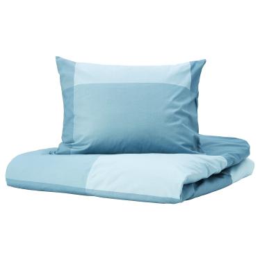 Комплект постільної білизни IKEA BRUNKRISSLA світло-блакитний (204.820.88)