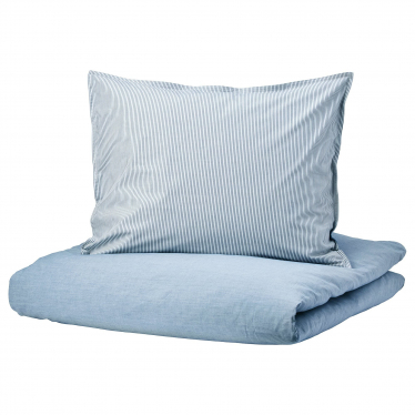 Комплект постільної білизни IKEA BLAVINDA світло-блакитний (404.617.68)