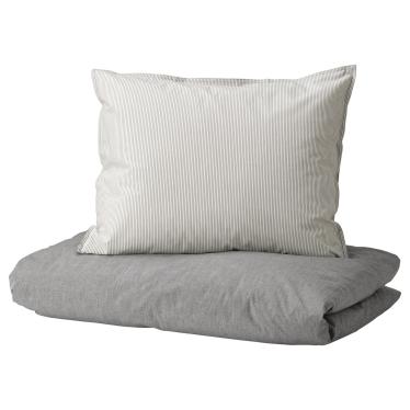Комплект постільної білизни IKEA BLAVINDA сірий (903.280.84)