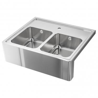 Подвійна мийка з фронтальним виступом IKEA BREDSJON 80x69 см (592.895.46)