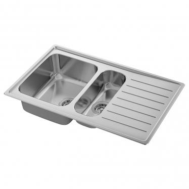 Полуторна мийка з сушкою IKEA VATTUDALEN 88x53 см (891.581.91)