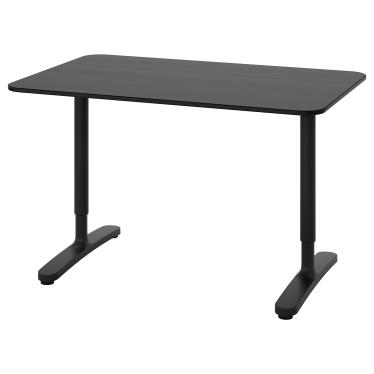 Письмовий стіл IKEA BEKANT 120х80 см чорний (592.825.83)