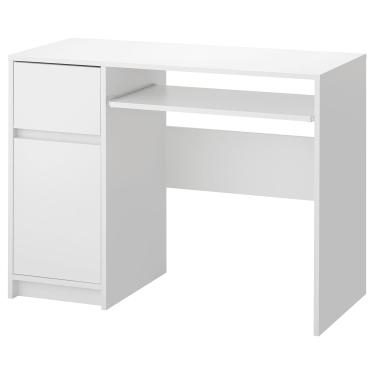 Письмовий стіл IKEA EJLER 100х45 см білий (204.715.46)