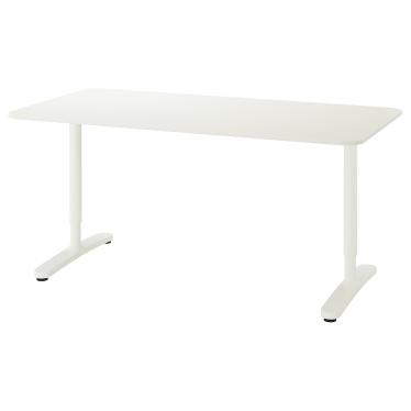 Письмовий стіл IKEA BEKANT 160х80 см білий (190.228.08)