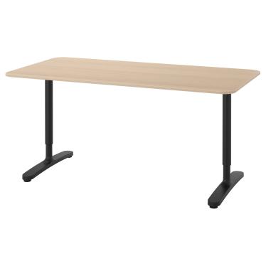 Письмовий стіл IKEA BEKANT 160х80 см дуб/чорний (292.826.74)