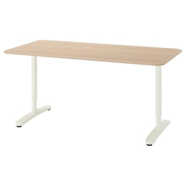 Письмовий стіл IKEA BEKANT 160х80 см дуб/білий (192.826.79)