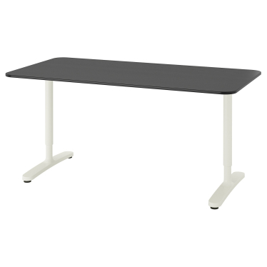 Письмовий стіл IKEA BEKANT 160х80 см чорно-білий (592.826.82)