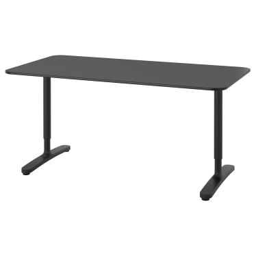 Письмовий стіл IKEA BEKANT 160х80 см чорний (692.825.92)
