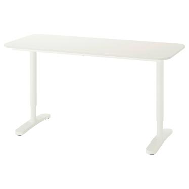 Письмовий стіл IKEA BEKANT 140х60 см білий (390.063.55)
