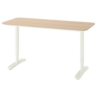 Письмовий стіл IKEA BEKANT 140х60 см дуб/білий (492.826.68)