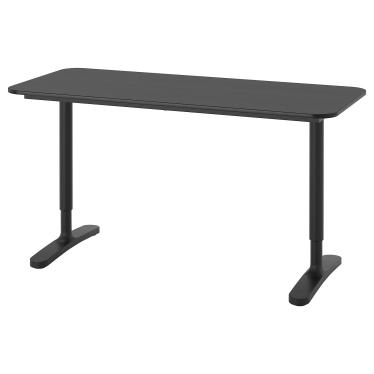 Письмовий стіл IKEA BEKANT 140х60 см чорний (692.826.29)