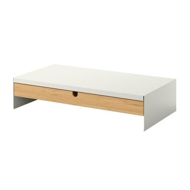 Підставка для монітора IKEA ELLOVEN з шухлядою біла (504.747.70)