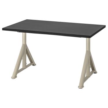 Письмовий стіл IKEA IDASEN 120х70 см чорно-бежевий (792.810.21)