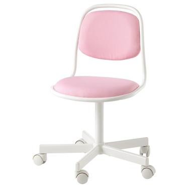 Дитяче робоче крісло IKEA ORFJALL біле/Рожеве (704.417.69)
