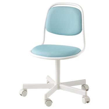 Дитяче робоче крісло IKEA ORFJALL біле/Вісле синє/зелене (604.417.79)