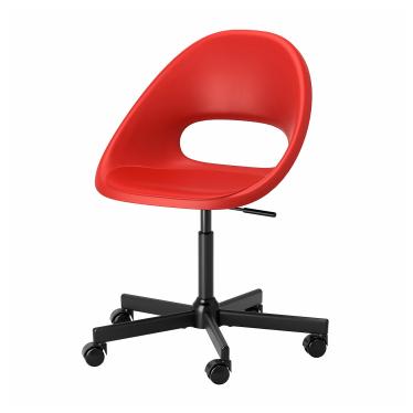 Офісне крісло IKEA ELDBERGET / MALSKAR червоне/чорне (393.318.53)
