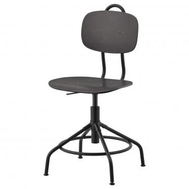Офісне крісло IKEA KULLABERG чорне (903.255.18)