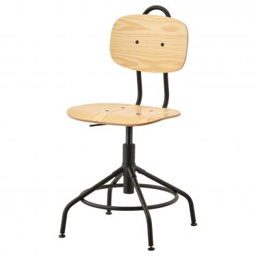 Офісне крісло IKEA KULLABERG сосна/чорне (103.203.41)