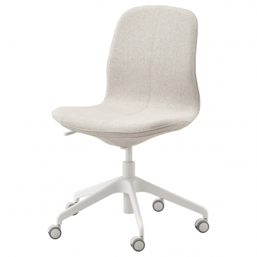 Офісне крісло IKEA LANGFJALL гуннарський бежевий/білий (192.523.66)