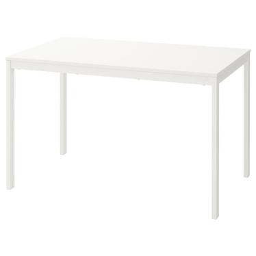 Розкладний стіл IKEA VANGSTA 120 / 180x75 см білий (803.615.64)