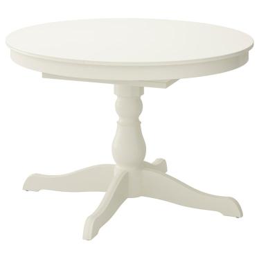 Розкладний стіл IKEA INGATORP 110/155 см білий (402.170.69)