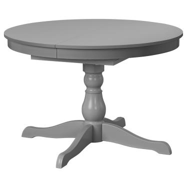 Розкладний стіл IKEA INGATORP 110/155 см сірий (904.303.45)