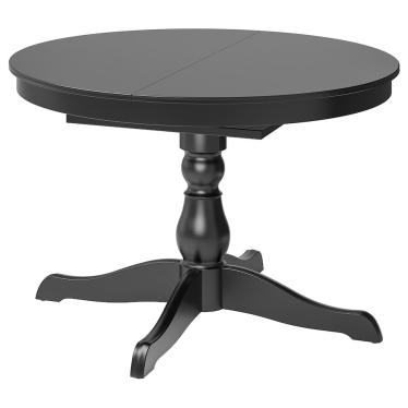 Розкладний стіл IKEA INGATORP 110/155 см чорний (802.170.72)