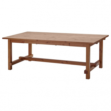 Розкладний стіл IKEA NORDVIKEN 210 / 289x105 см морилка (004.885.43)