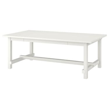 Розкладний стіл IKEA NORDVIKEN 210 / 289x105 см білий (403.687.13)