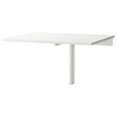 Відкидний настінний стіл IKEA NORBERG 74 х 60 см білий (301.805.04)