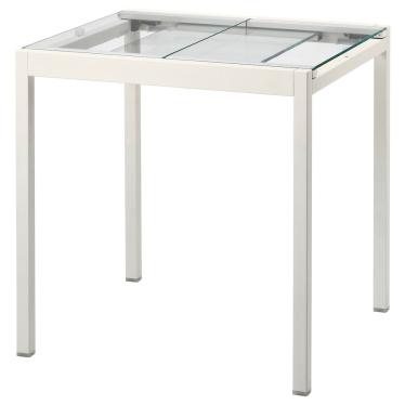 Розкладний стіл IKEA GLIVARP 75 / 115x70 см скло/білий (404.707.96)