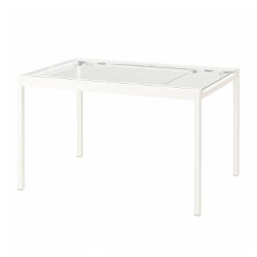Розкладний стіл IKEA GLIVARP 125 / 188x85 см скло/білий (804.707.80)