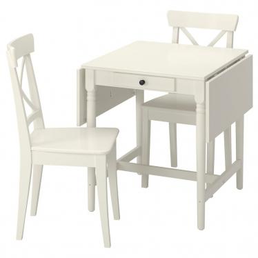 Стіл і 2 стільці IKEA INGATORP / INGOLF білий (994.004.95)