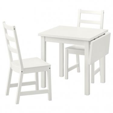 Стіл і 2 стільці IKEA NORDVIKEN / NORDVIKEN 74 / 104x74 см білий (193.050.77)