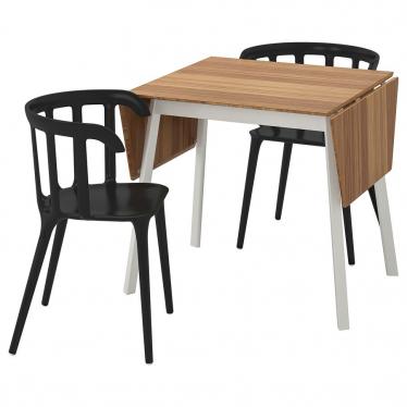 Стіл і 2 стільці IKEA IKEA PS 2012 / IKEA PS 2012 74 см бамбук/чорний (299.320.63)