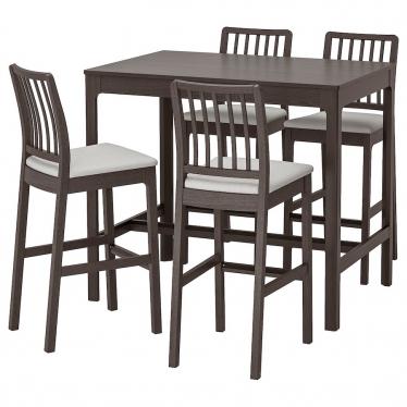 Барний стіл + 4 барні стільці IKEA EKEDALEN / EKEDALEN темно -коричневий / Orrsta (693.042.21)