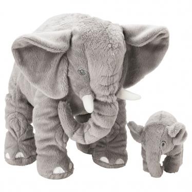 М'яка іграшка IKEA LEDDJUR слон 2 шт. сірий (205.067.82)