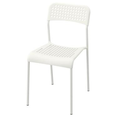 Стілець IKEA ADDE білий (102.191.78)